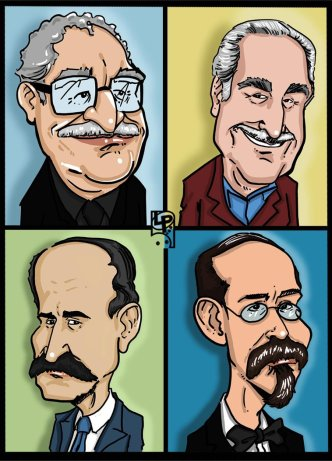caricaturas_escritores_by_luispereiraart-d8u73po