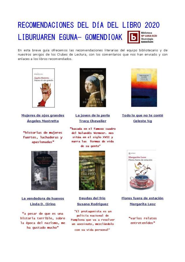 Recomendaciones día del libro 1